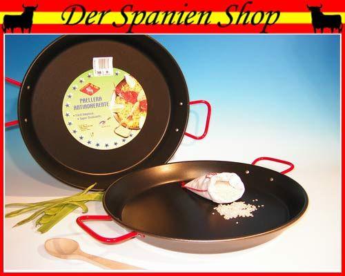 antihaft beschichtete paella pfanne aus spanien d 50cm. Black Bedroom Furniture Sets. Home Design Ideas