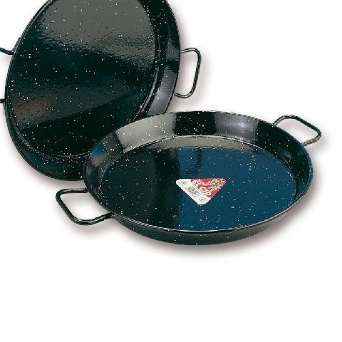 paella pfanne stahl emailliert aus spanien durchmesser 50cm ebay. Black Bedroom Furniture Sets. Home Design Ideas