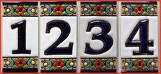 spanische hausnummern aus keramik f r die haust r der spanien shop. Black Bedroom Furniture Sets. Home Design Ideas