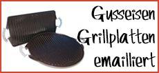 Grillplatte Gusseisen emailliert