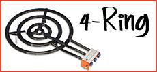 4-Ring Gasbrenner