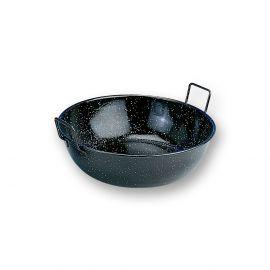grillpfanne und frittierpfanne emailliert 24cm der spanien shop. Black Bedroom Furniture Sets. Home Design Ideas