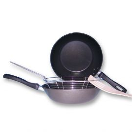 Grillpfanne und Frittierpfanne antihaft 24cm