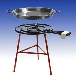 Paella Grill-Set Cordoba - mit 70cm Aludeckel - + Schlauch und Druckminderer - für 20-25 Personen