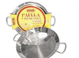 Paella Pfanne aus Edelstahl für Induktion & Herd 50cm
